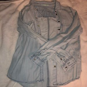 Light Wash Chambray Button Up